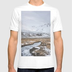 Heading to the Mountains MEDIUM White Mens Fitted Tee