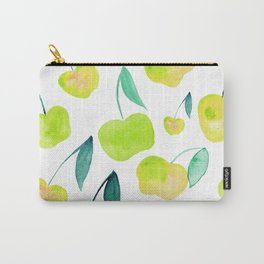 Watercolor cherries - yellow and green Carry-All Pouch