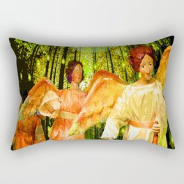 ANGELS BRING GLAD TIDINGS OF JOY Rectangular Pillow