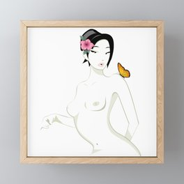 Madame Butterfly, Minimal and Essential Framed Mini Art Print