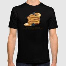Fluffy Pancakes MEDIUM Black Mens Fitted Tee