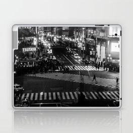Shibuyacrossing at night - monochrome Laptop & iPad Skin