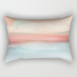 Mint Moon Beach Rectangular Pillow