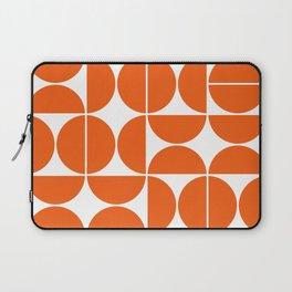 Mid Century Modern Geometric 04 Orange Laptop Sleeve