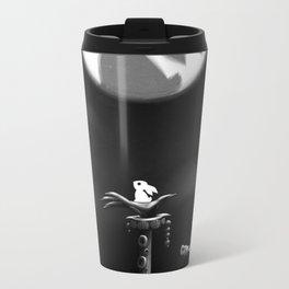 Rabbit on the moon Metal Travel Mug