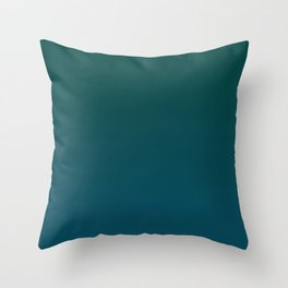 Dark green and blue gradient, Ombre. Throw Pillow