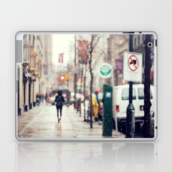 Snowing in the City Laptop & iPad Skin