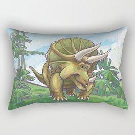 Animal Parade Triceratops Rectangular Pillow