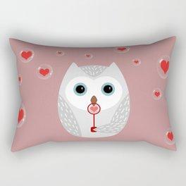 OWL, LOVE & BUBBLES (valentine animals heart) Rectangular Pillow
