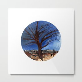 A tree shows its roots Metal Print