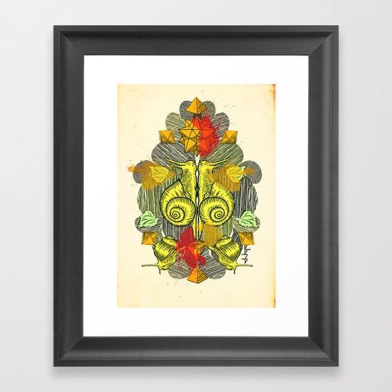 Snailkiss Framed Art Print