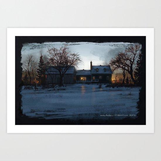 House in Fire Art Print