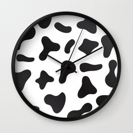 Cow Skin Texture Pattern Wall Clock