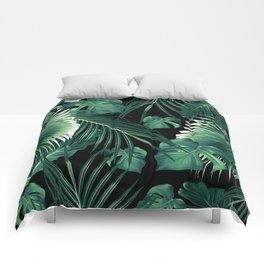 Tropical Jungle Leaves Dream #6 #tropical #decor #art #society6 Comforters