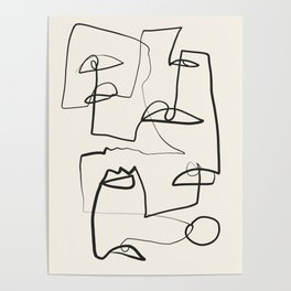 Abstract line art 12 Poster