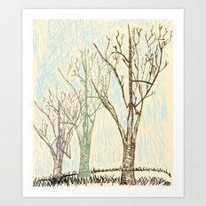 A Winters Sketch Art Print