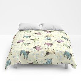 Pajama'd Baby Goats - Yellow Comforters