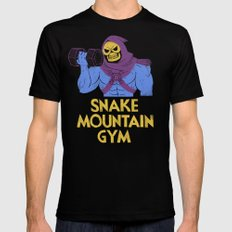 snake mountain gym Black Mens Fitted Tee LARGE