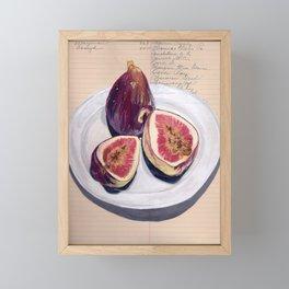 Figs on a Plate in Gouache Framed Mini Art Print
