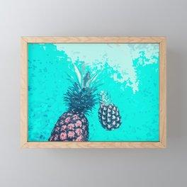 Pineapple Float Framed Mini Art Print