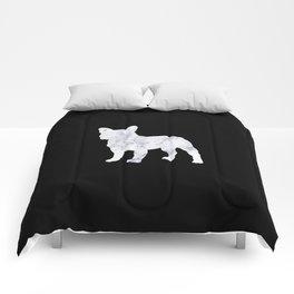 French bulldog marble noir Comforters
