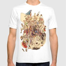 The Seven Head Dresses of Lucifer MEDIUM White Mens Fitted Tee