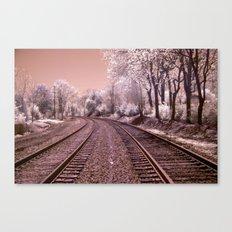 Train Track in Culpeper Canvas Print