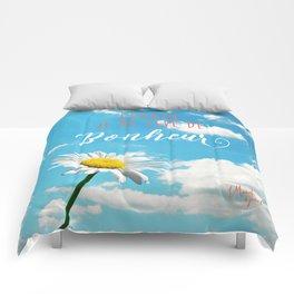 Demain je me lève de bonheur Comforters