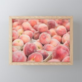 Peaches at the Farmer's Market Framed Mini Art Print