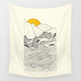 The land and the sea Wall Tapestry