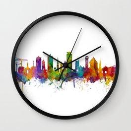Plymouth England Skyline Wall Clock