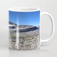 archan nair Mugs featuring Piz Nair View by Helle Gade