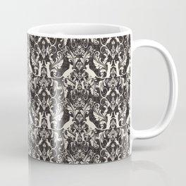 Victorian cat damask Coffee Mug