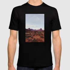 Monument Valley View Mens Fitted Tee Black X-LARGE