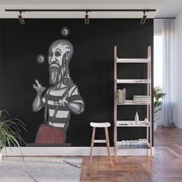 mime juggling Wall Mural