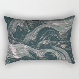 turne II. Abstract Charcoal Melt Rectangular Pillow