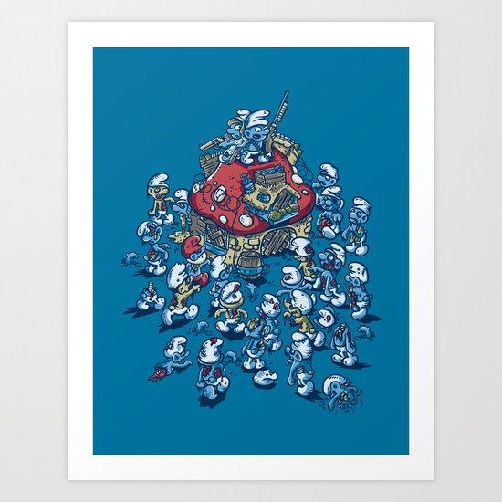 Blue Horde Art Print