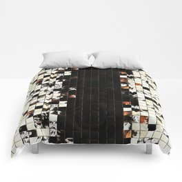 Square Tiles Ceramic Mosaic Pattern Sienna Accent Comforters