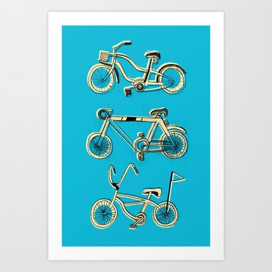 Gonna ride my bike 'til I get home(blue) Art Print