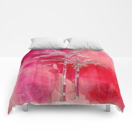 Red Palms Comforters
