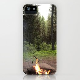 Backpacking Camp Fire iPhone Case
