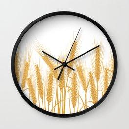 Ears of wheat Wall Clock