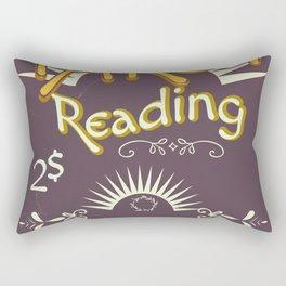 Tarot Reading vintage chalk poster Rectangular Pillow