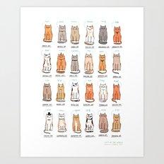 Cats of The World Art Print