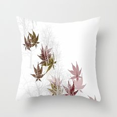 Leaves and Trees Throw Pillow