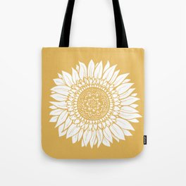 Yellow Sunflower Drawing Tote Bag