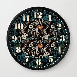 Jazz Rhythm (negative) Wall Clock