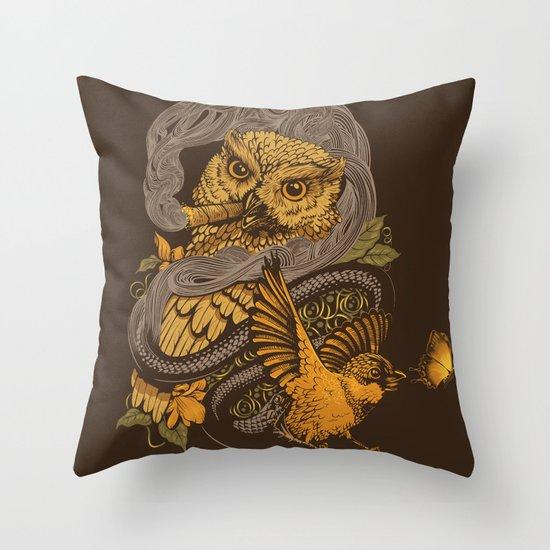 BIGMEAL Throw Pillow
