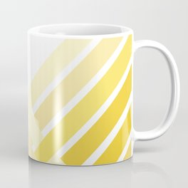 Yellow Ombre Stripes Coffee Mug