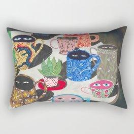 Suspicious mugs Rectangular Pillow